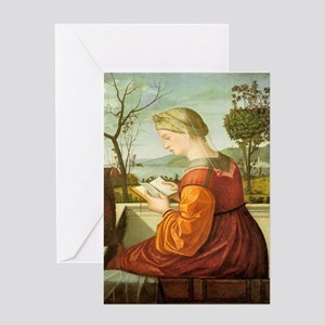 Medieval Lady Reading Greeting Cards