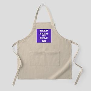 Keep Calm and Shop On Apron