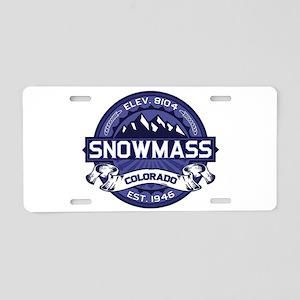 Snowmass Midnight Aluminum License Plate