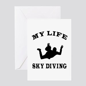 My Life Sky diving Greeting Card