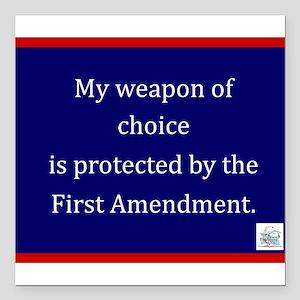 "Ist Amendment Protection Square Car Magnet 3"" x 3"""