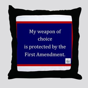 Ist Amendment Protection Throw Pillow