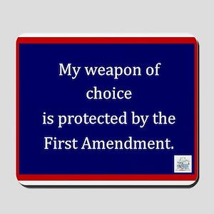 Ist Amendment Protection Mousepad