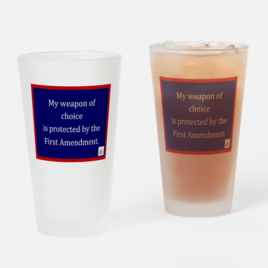 Ist Amendment Protection Drinking Glass