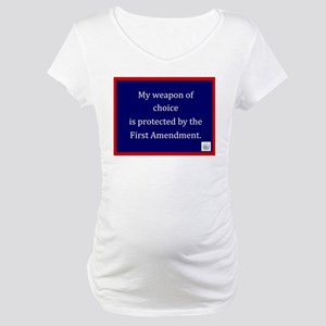 Ist Amendment Protection Maternity T-Shirt