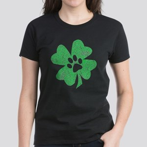 St Patty's Paw Women's Dark T-Shirt
