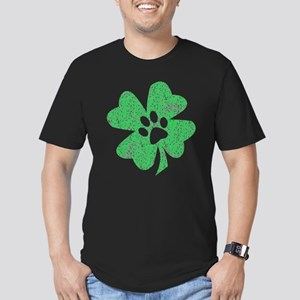 St Patty's Paw Men's Fitted T-Shirt (dark)