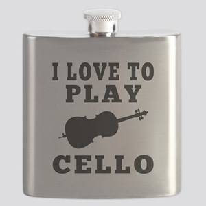 I Love Cello Flask