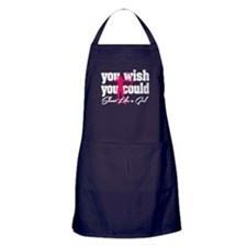 You Wish You Could Shoot Like a Girl Apron (dark)