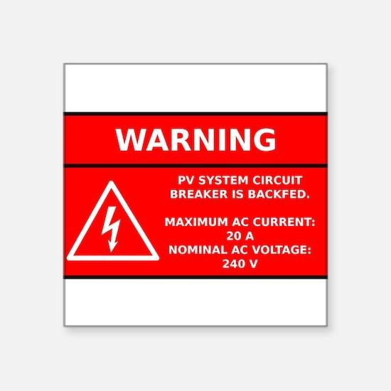 Solar PV Circuit Warning Sticker