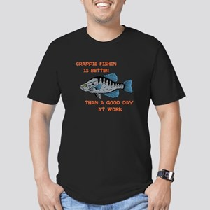 Crappie fishing Men's Fitted T-Shirt (dark)