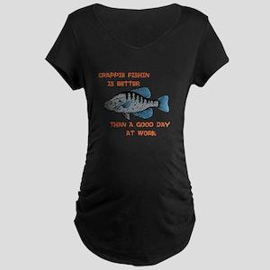 Crappie fishing Maternity Dark T-Shirt