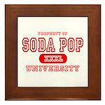 Soda Pop University Framed Tile