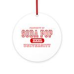 Soda Pop University Ornament (Round)