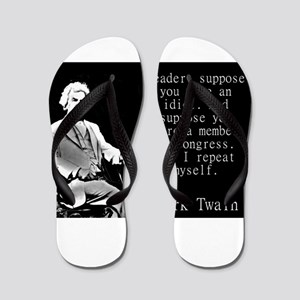 Reader Suppose You Were An Idiot - Twain Flip Flop