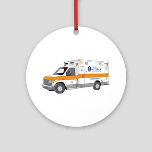 Ambulance Ornament (Round)