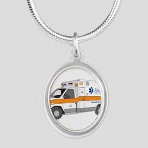 Ambulance Silver Oval Necklace