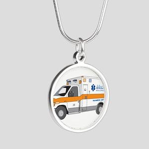 Ambulance Silver Round Necklace