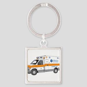 Ambulance Square Keychain