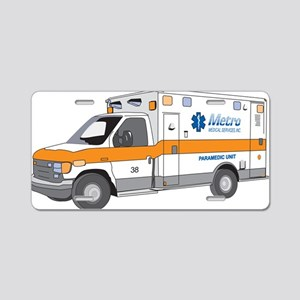 Ambulance Aluminum License Plate