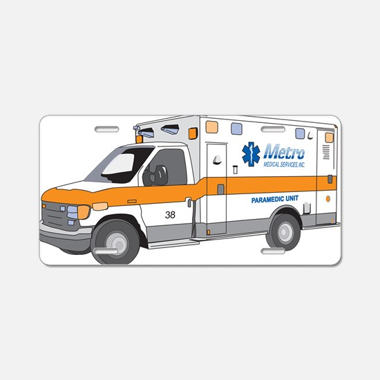 Ambulance Aluminum License Plate