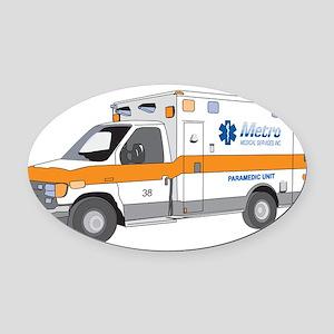Ambulance Oval Car Magnet