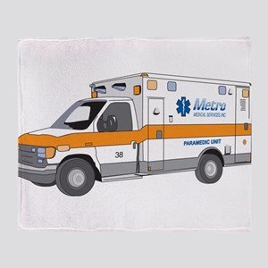 Ambulance Throw Blanket