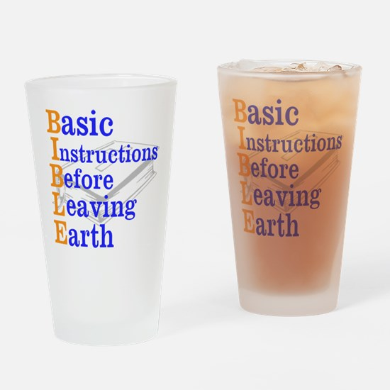 BIBLE Drinking Glass
