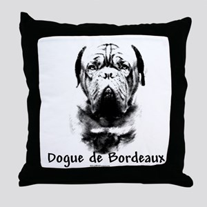 Dogue Charcoal Throw Pillow
