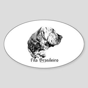 Fila Charcoal Oval Sticker
