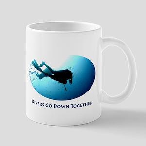 Divers Go Down Together Mug