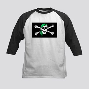 Green Bandana Pirate Flag Baseball Jersey