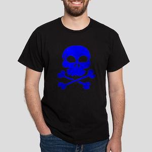 Blue Skull And Crossbones T-Shirt