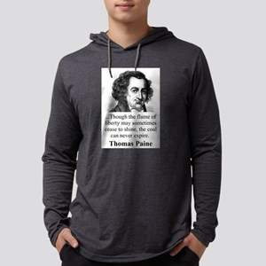 Though The Flame Of Liberty - Thomas Paine Mens Ho