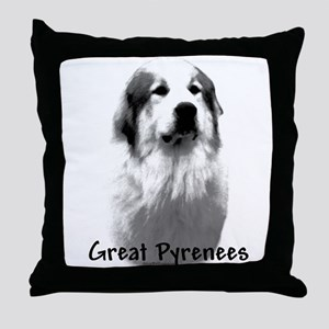 Great Pyr Charcoal Throw Pillow