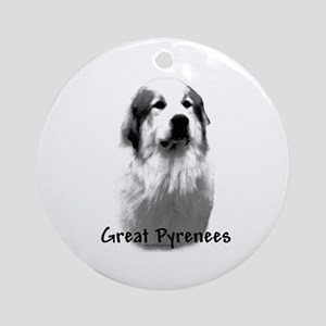 Great Pyr Charcoal Ornament (Round)