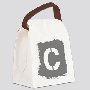 Initial Letter C. Canvas Lunch Bag