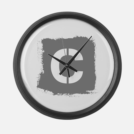 Initial Letter C. Large Wall Clock
