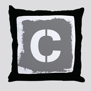 Initial Letter C. Throw Pillow