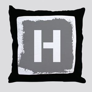 Initial Letter H. Throw Pillow