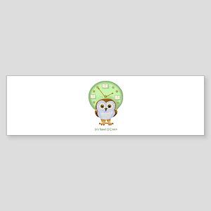 Read OClock Bumper Sticker
