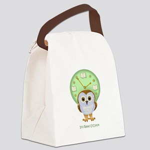 Read OClock Canvas Lunch Bag