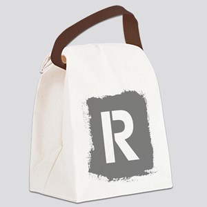 Initial Letter R. Canvas Lunch Bag