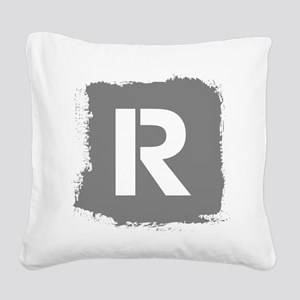 Initial Letter R. Square Canvas Pillow