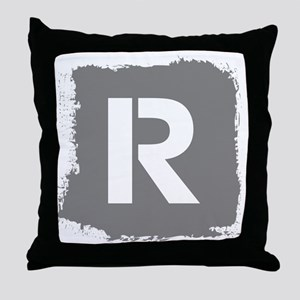 Initial Letter R. Throw Pillow