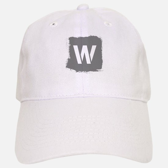 Initial Letter W. Baseball Baseball Baseball Cap