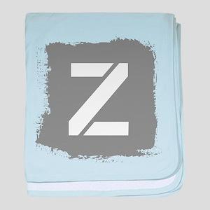Initial Letter Z. baby blanket