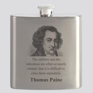 The Sublime And The Ridiculous - Thomas Paine Flas