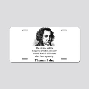 The Sublime And The Ridiculous - Thomas Paine Alum