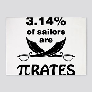 Sailors are pirates 5'x7'Area Rug